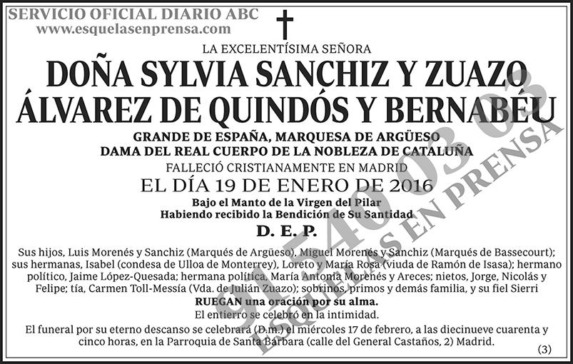 Sylvia Sanchiz y Zuazo Álvarez de Quindós y Bernabéu